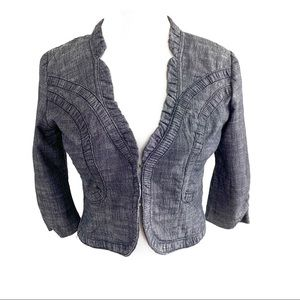 IZ Byer Dark Grey Crop Suit Jacket